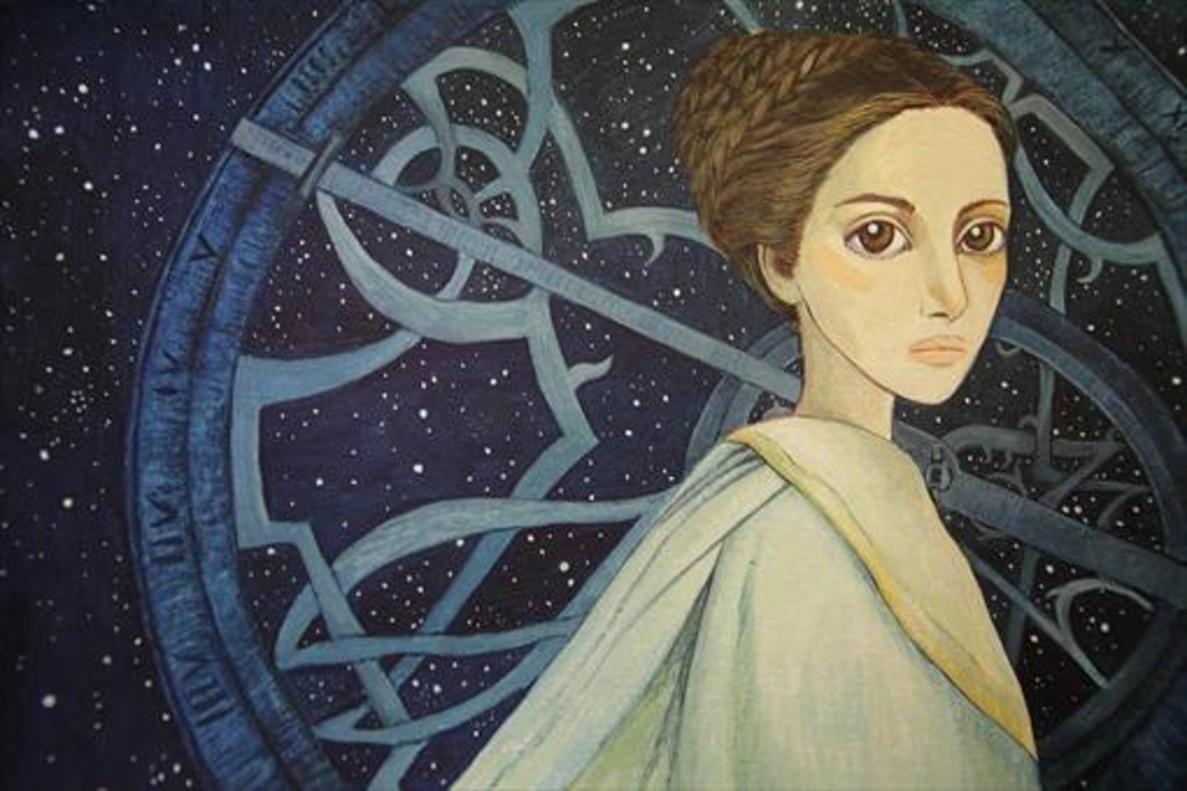 Hipatia de Alejandría, dibujada por Isabel Ruiz Ruiz.