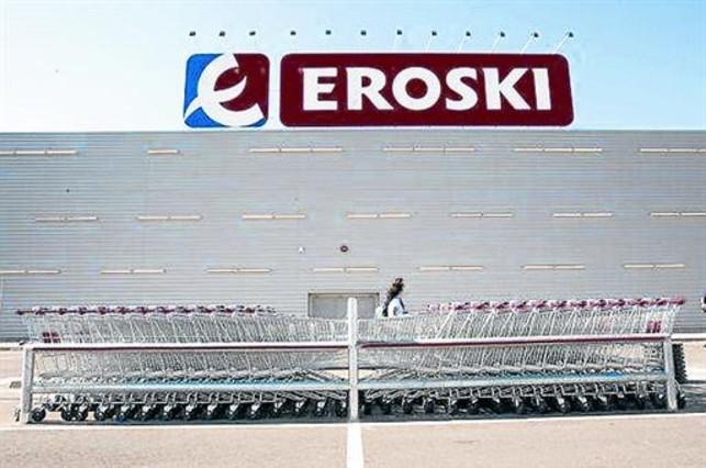 Un hipermercado de Eroski.
