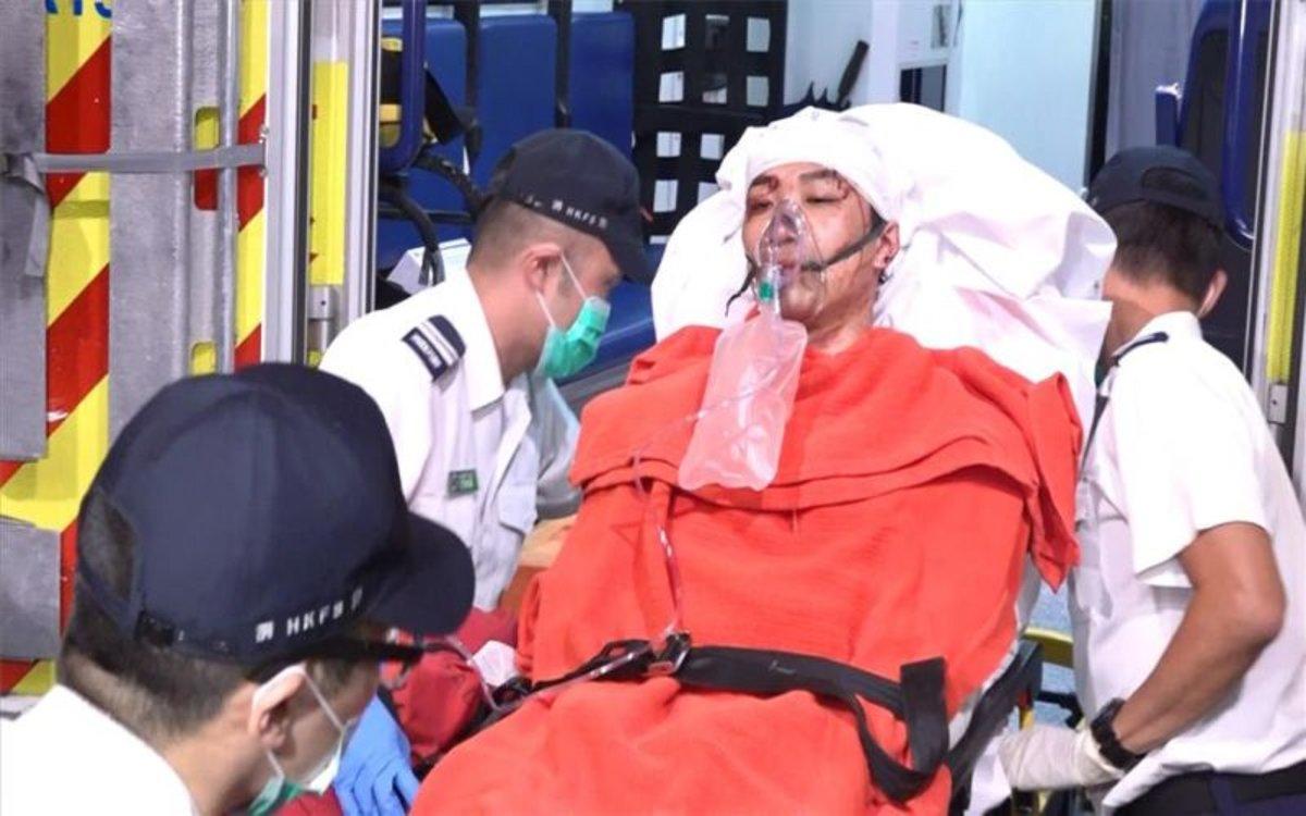 Jimmy Sham Tsz-kit fue golpeando en las calles de Hong Kong.