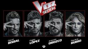 Antena 3 confirma a los coaches de 'La Voz Senior': Bisbal, Pablo López, Orozco y Paulina Rubio