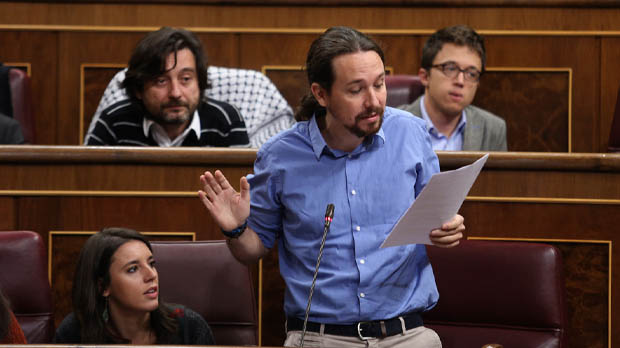 Pablo Iglesias en su locución en el Congreso.