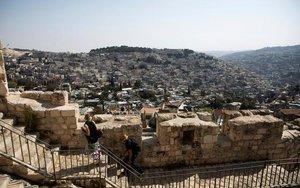 Vista del barrio deSilwán enJerusalén.