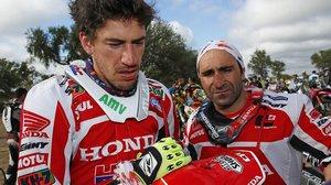 Joan Barreda y Paulo Gonçalves cuando eran compañeros en Honda.