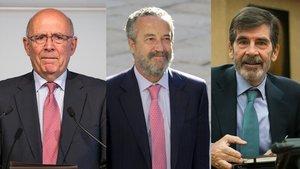 Joan Rigol, Pedro Arriola y José Enrique Serrano.