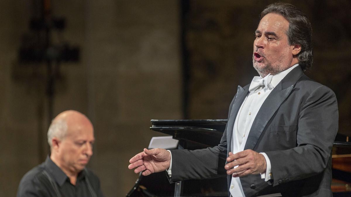 Josep Bros, durante el concierto de este sábado en el Festival Castell de Peralada.