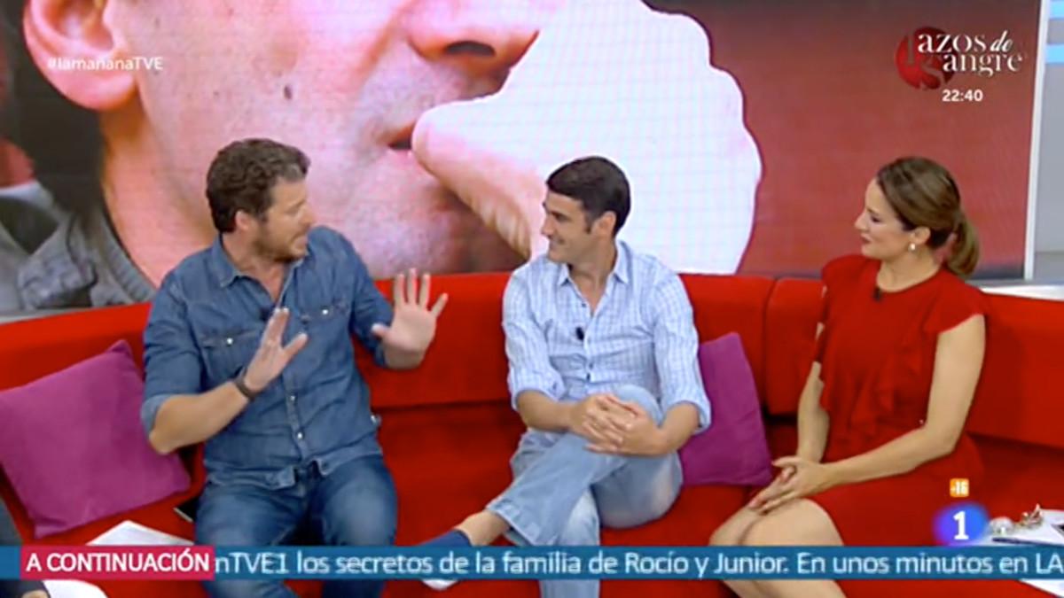 Jota Abrl y Silvia Jato con Jesulín de Ubrique en La mañana.