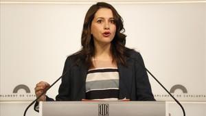 La líder de la oposición en Catalunya, Inés Arrimadas.