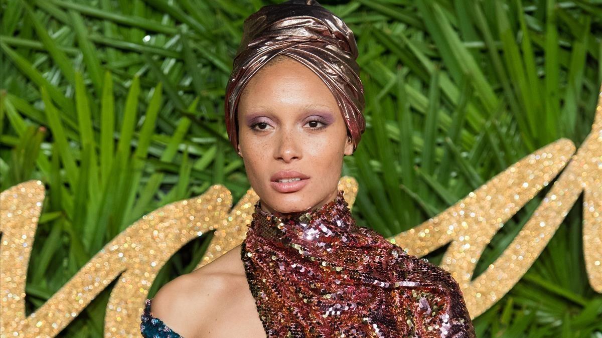 La modelo Adwoa Aboah, el pasado lunes en Londres.