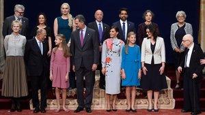 Los Reyes, con los premios Princesa de Asturias.