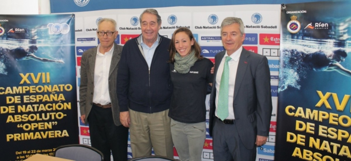 Lolo Ibern, Miquel Torres, Jessica Vall y Fernando Carpena, en la presentación del Open.