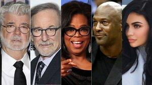 Lucas, Spielberg, Winfrey, Jordan y Jenner, los famosos más ricos del 2018, según 'Forbes'.