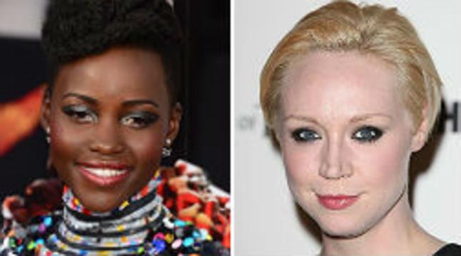 Lupita Nyong'o (izquierda) y Gwendoline Christie, nuevas incorporaciones de 'La guerra de las galaxias'.