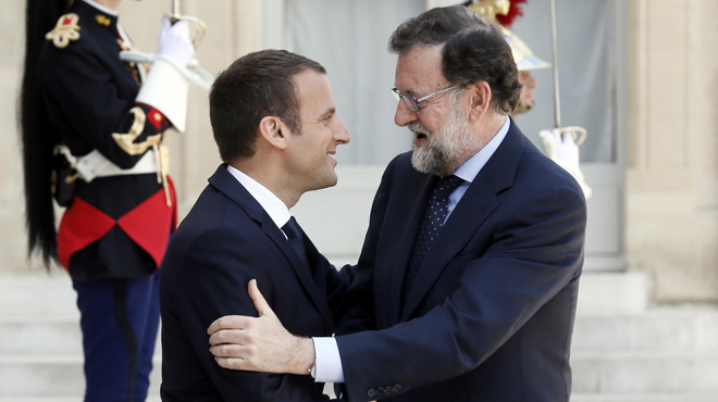 """Macron, sobre el referéndum: """"Es un tema interno. Tengo un socio y es España en su conjunto"""""""