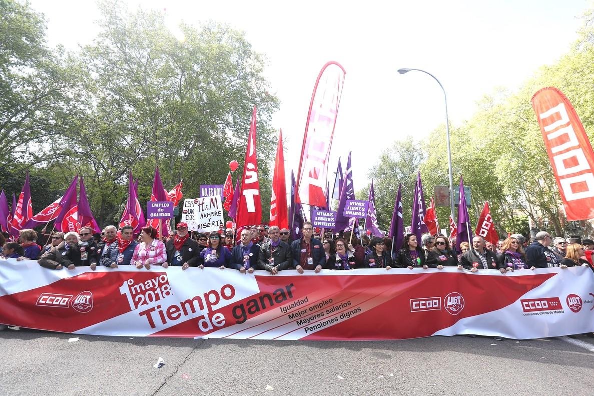 Así les hemos contado en directo las manifestaciones del Primero de Mayo