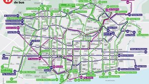 Mapa de la red de bus de altas prestaciones de Barcelona.