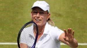 Martina Navratilova, durante un partido en Londres en el 2011.