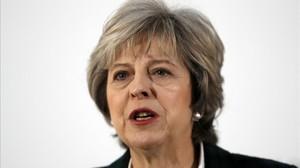 May, durante su discurso en Lancaster House, en Londres, este martes.