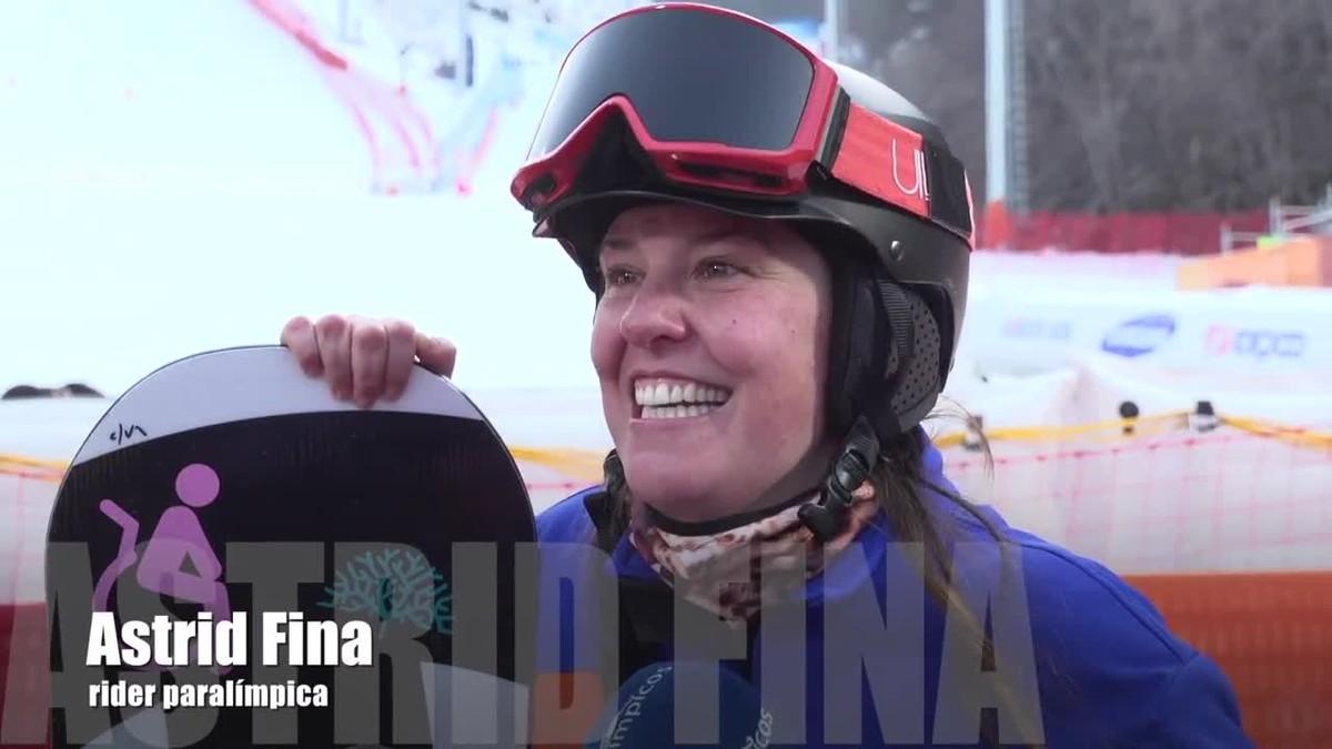 La abanderada del Equipo Paralímpico Español, Astrid Fina, ha sido la encargada de abrir el medallero de la delegación en los Juegos de Invierno de Pyeongyang.