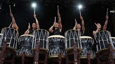 Espectáculo Tagode tambores coreanos.