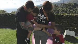 Imagen que Antonella Roccuzzo, esposa de Messi, ha publicado en Instagram.