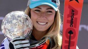 Mikaela Shiffrin, ganadora en eslalon.