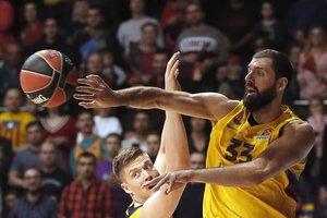 Mirotic supera a otro exNBA, Jererbko, en el partido europeo entre el Barça y el Khimki Moscú