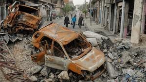 Imagen de la ciudad iraquí de Mosul el pasado mes de abril.