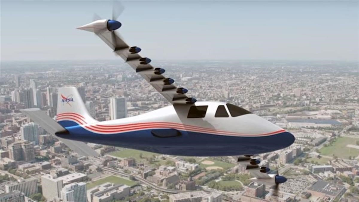 Recreacion en vuelo del X37 Maxwell.