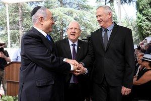 Netanyahu y Gantz.