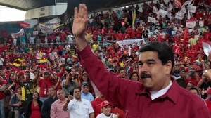 El presidente de Venezuela, Nicolás Maduro, durante un mitin en la ciudad venezolana de Barcelona, el pasado 8 de julio.