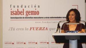 Isabel Gemio, en un acto de su fundación.