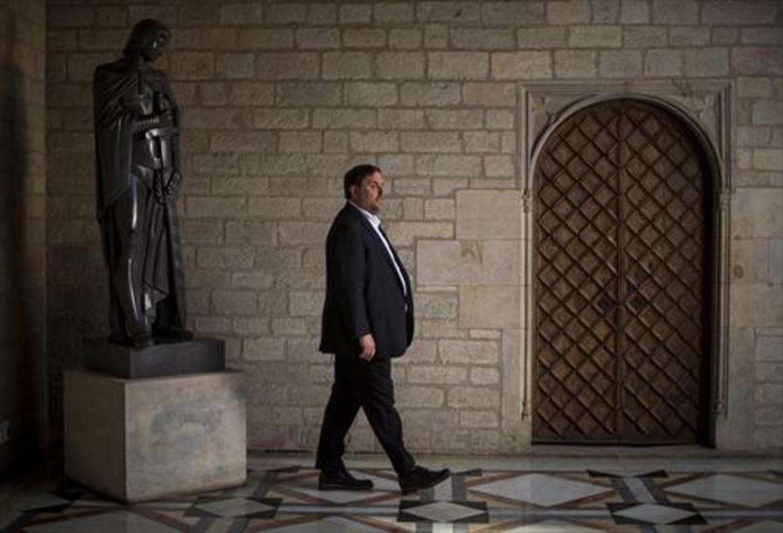Oriol Junqueras, en el Palau de la Generalitat.