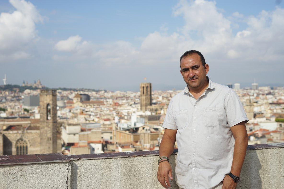 Entrevista con elsecretario general de CCOO de Catalunya, Javier Pacheco, en la sede de Via Laietana.