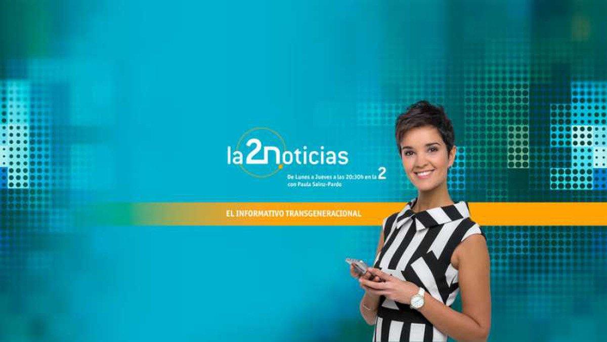 Paula Sáinz-Pardo, presentadora de 'La 2 noticias'.