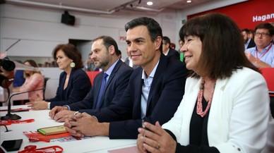 Sánchez recibe el apoyo del PSOE a la moción pero sin pacto con ERC y PDECat