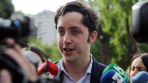 El 'pequeño Nicolás', este lunes a su llegada a laAudiencia Provincial de Madrid