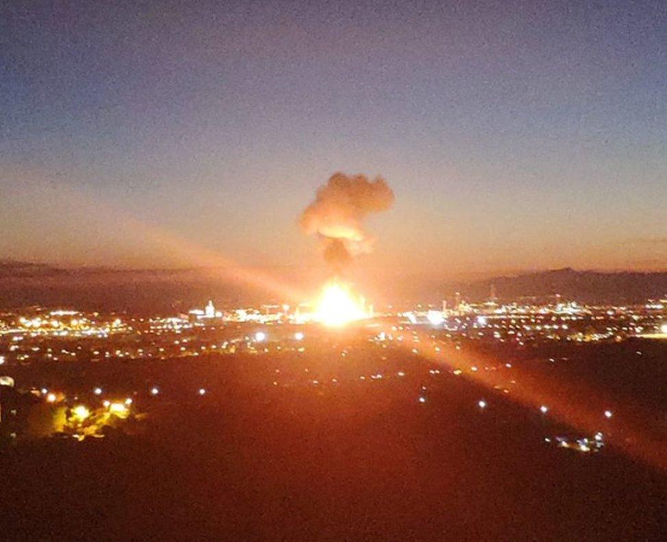 Així és l'òxid d'etilè, el gas que va cremar a la petroquímica de Tarragona