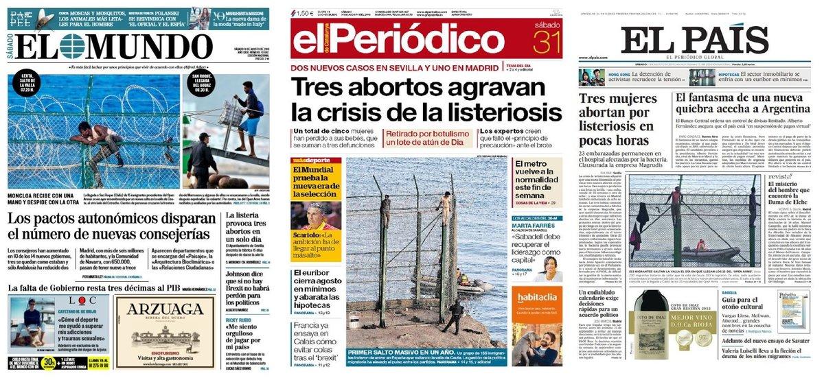 Prensa de hoy: Las portadas de los periódicos del sábado 31 de agosto del 2019