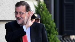 El presidente del Gobierno, Mariano Rajoy, el pasado 12 de julio llegando al Congreso.