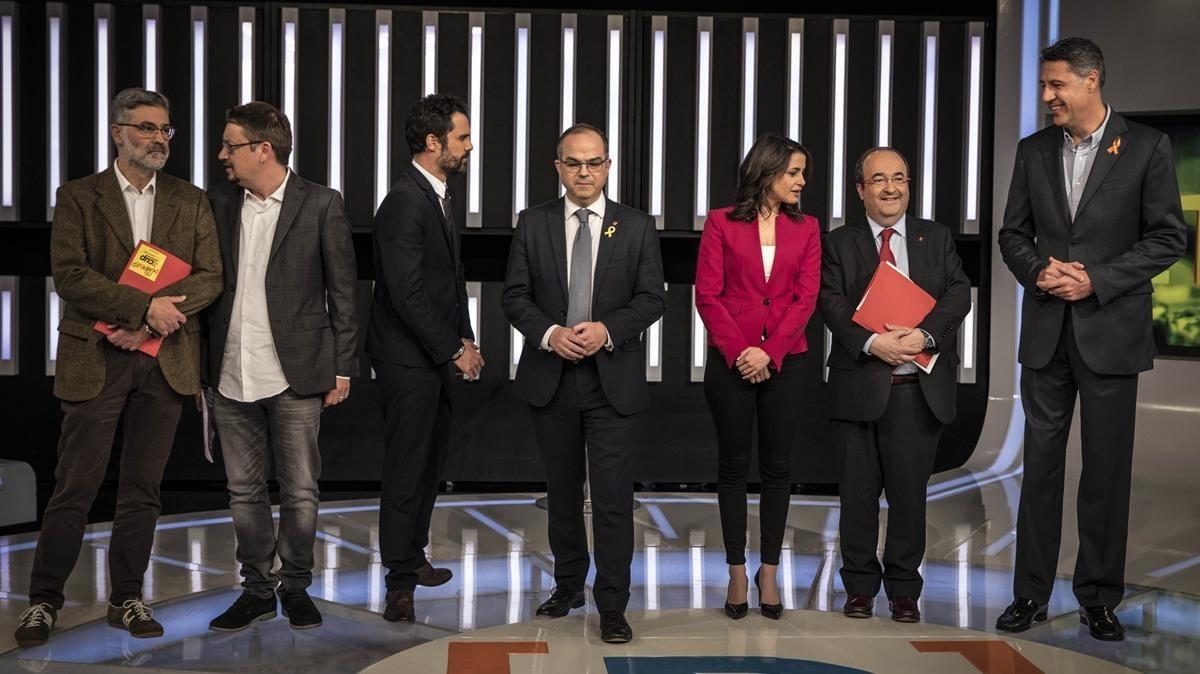 Primer debate electoral de las elecciones del 21 de diciembre.