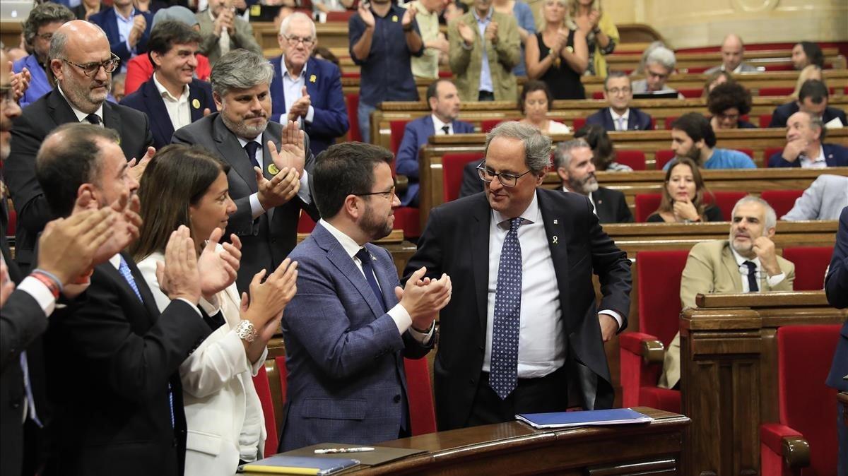 Quim Torra en el debate de politica general en el Parlament de Catalunya