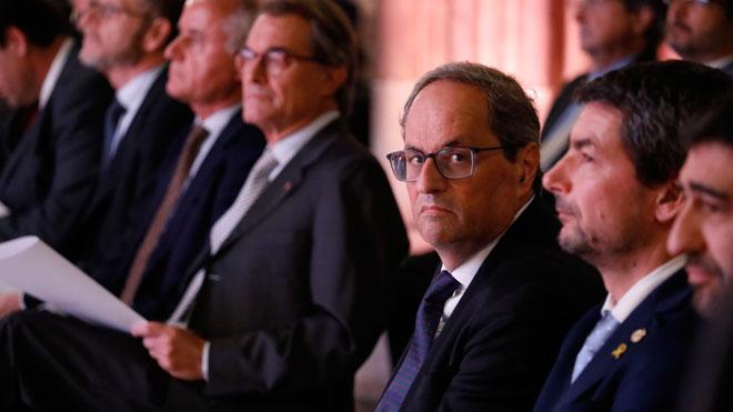 El 'president' Quim Torra en la presentación del plan para la Cambra de Comerç.
