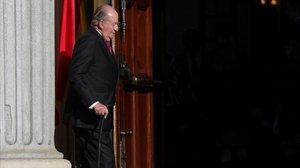 El rey Juan Carlos, en una visita al Congreso.