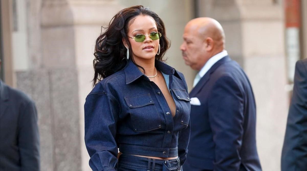 Rihanna pasea por las calles de Nueva York, el pasado 12 de octubre.