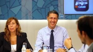 Alicia Sánchez-Camacho y Xavier García Albiol, en una reunión de la dirección del PPC.