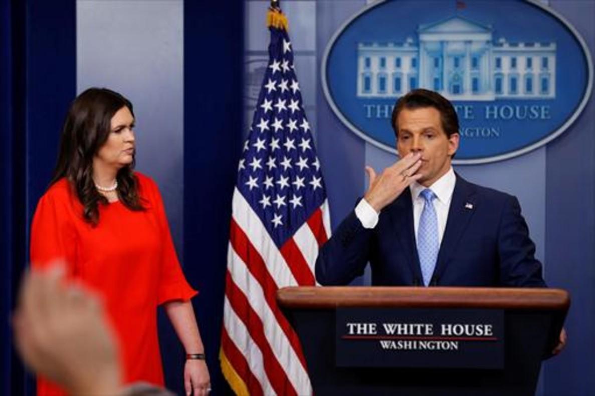 Scaramucci, durante una rueda de prensa en la Casa Blanca, el pasado día 21.