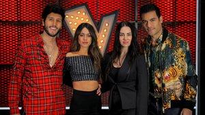 Sebastián Yatra, Tini, Mala Rodríguez y Carlos Rivera, asesores de 'La voz'.