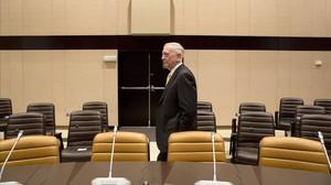 El secretario de Defensa de EEUU, James Mattis, en la sede de la OTAN, en Bruselas.
