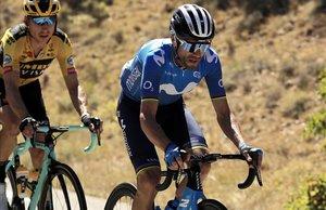 Alejandro Valverde, en acción, durante este Tour.