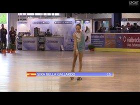 La patinadora Sira Bella, del Club Patí Parets.